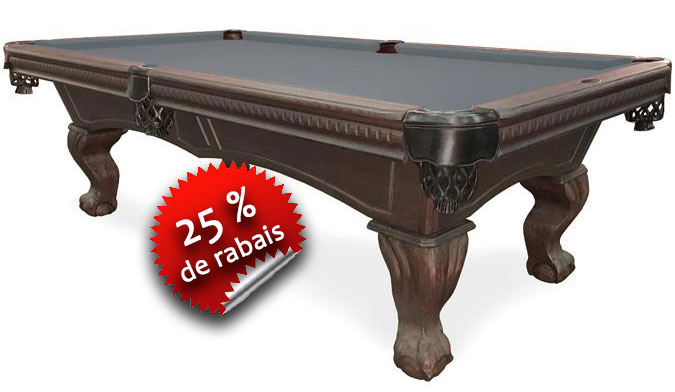 Table de Billard Majestic sutton noir rustique