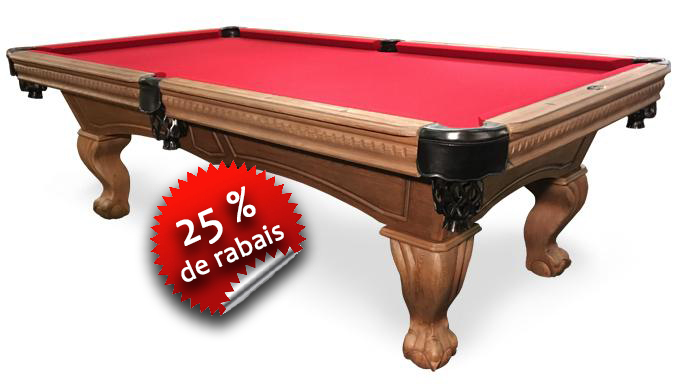 Table de Billard Majestic Sutton noyer rustique