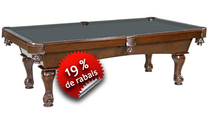 Table de Billard Majestic Val d'Or patte boule et griffes